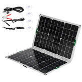 120W 18V Solar Panel Dual USB Power Bank Battery Charger Portable Foldable Power Generator Camping Travel