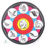 40X40cm tir à l'arc papier cible pour le sport en plein air tir à l'arc tir chasse cible de formation