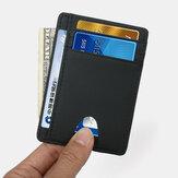 Feminino e masculino Couro Genuíno porta-cartão de fibra de carbono Padrão RFID carteira com slot para vários cartões