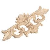Applique in legno di intaglio Applique senza fioe Applique Decalcomanie di legno per mobili Cabinet 22x10cm