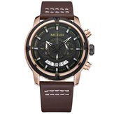 MEGIR 2047 Male Multifunction Chronograph Luminous Fashion Casual Men Quartz Watch