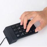 صغير USB سلكي 18 مفاتيح لوحة المفاتيح الرقمية عدد لوحة المفاتيح البسيطة لأجهزة الكمبيوتر المحمول الكمبيوتر