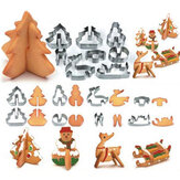 Honana 8PCS 3D Christmas Scenario Cookie Cutter Stampo per stampi in acciaio inox