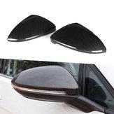 Capuchons de couverture de rétroviseur côté voiture en fibre de carbone de remplacement couleur vue arrière pour VW Golf MK7 MK7.5 GTI R