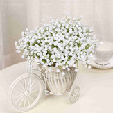 Single Branch Babysbreath Flores artificiais Fake Flower para Home Wedding Decoration Shooting Props