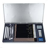 Pahlawan Gambar Pensil Set Kotak Besi HB / 2B / 4B Pena Karbon Pemula Profesional Gambar Pena