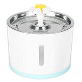 Fontaine à boire automatique pour animaux de compagnie 1.5W 100 ~ 240V avec LED distributeur d'eau muet-EU / US prise