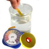 Papel de teste de ácido alcalino de pH 5m Teste de tornassol de água para aquário de jardinagem Planta