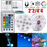 Piscina RGB impermeabile leggera subacquea 2PCS / 4PCS LED lampada + 24Keys IR remoto Controllo