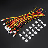 Excellway® 20pcs 24AWG PH2.0 3pin Terminals Wire Electronic Line Single Head