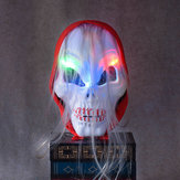Halloween Horror Schädel Ghost LED Licht Maske Zombie Red Kopftuch hHeadband Lumineszenz Kostüm Party