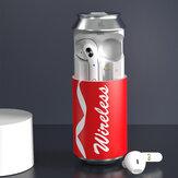 Fashion Can TWS Słuchawki douszne bluetooth Dźwięk HiFi CVC 8.0 Słuchawki z redukcją szumów Zestaw słuchawkowy z długim akumulatorem z etui ładującym