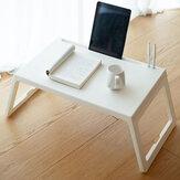 Mesa para laptop de estilo simples mesa quadrada pequena dobrável feita de material PP para escritório doméstico
