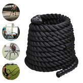 9M Longueur Fitness Battle Rope Coude à sauter lourde Weighted Battle Skipping Ropes Retainer Gym Exercise Tools