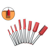 1/7/8Pcs 1/4 Inch 6.35mm Shank Single/Double Blade Straight Bit Router Bit Milling Cutting For Wood Tool Trimming