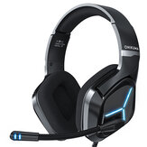 ONIKUMA X9 Gaming Headset Gamer Headphones Surround Sound Stereo Wired Earphones USB Microphone Blue Light for PC Laptop