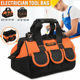 13-20'' Heavy Duty Electrician Tool Bags Tool Storage with Handle + Shoulder Strap