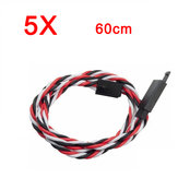 5X Amass 60 Core 60cm Anti-off Servo Extension Wire Cable For Futaba