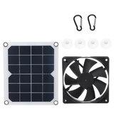 Mini ventilatore alimentato a pannello 6V 10W solare per tetto camper in serra per animali domestici