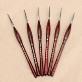 Extra Fine Detail Paint Brushes Set 6 Sizes Professional Sable Hair Miniature Art Nail Brushes
