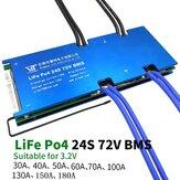 24S 72V Lithium Bateria 3.2V Placa de Proteção de Energia 30A-180A com Função de Equalização de Proteção de Temperatura Proteção de Sobrecorrente BMS PCB