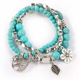 Sweet Bohemian Blue Türkis Perlen Multilayer Armband