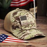 Frauen Tarnung Militärdruck Stil Amerika Flagge Hallow Out Breathable Cool Baseball Hut