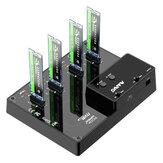 MAIWO K3015P2 Estación de acoplamiento NVME de 2/4 bahías tipo C a carcasa SSD NVME compatible con duplicador de clonación sin conexión y clonación de disco del sistema