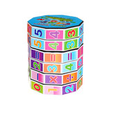 Cylindrical Magic Cube Digital Puzzle Plastic Children Game Toy Early Education Learning