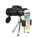 40X60HDBAK4OptikLensMonoküler Düşük Işık Seviyesi Gece Görüş Su Geçirmez Telefon Teleskopu