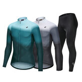 NUCKILY Men's Set Professional Bicycle Clothing With Breathable Gel Pad Gradient Colour Women Road Bike Wear Sportsuit Cycling Jersey