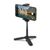 BlitzWolf® BW-BS0 Suporte de telefone para tripé de múltiplos ângulos de mesa Mini Selfie monopé portátil para câmera de telefone LED Luz