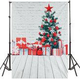 5x7FT شجرة عيد الميلاد هدية ديكور ألوان مائية جدار خلفية التصوير الدعائم