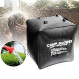 40L Solar Ducha Bolsa Ducha de agua caliente Bolsa Agua caliente Bolsa con cabezal de ducha de tubo al aire libre cámping Viaje