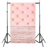 3x5FT Vinyl Pink Wood Floor Bedside Photography Backdrop Background Studio Prop