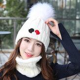 MujerApruebadevientoThicken Plus Velvet Tejer Sombrero bufanda conjunto
