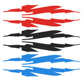 Sports Racing Stripe Graphic Sticker Red Auto Car Body Side Door Vinyl