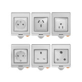 SONOFF® S55 ضد للماء WIFI ذكي Socket Switch UK / AU / US / FR / DE / ZA Multiple رواية وايفاي Socket يعمل مع Alexa Google Home