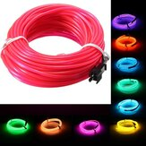 10M EL LED Fleksibel Soft Tube Wire Neon Glow Car Rope Strip Light Xmas Decor DC12V