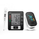 Пульсоксиметр 3 в 1 для измерения артериального давления на запястье Монитор Сфигмоманометр Boby Термометр Для пожилых людей Здоровье Набор