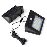 64/48/32 Waterproof LED Solar Panel Power Sensor Wall Light Outdoor Walkway Lamp With 2.5m Cable