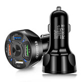 Universal 3A QC3.0 4 USB Car Charger Power Adapter for Smartphone Tablet