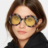 MændKvinderUV400RundeRammeSolbriller Ikke-polariseret Goggle