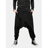 Men Casual Drape Drop Crotch Harem Hip Hop Trouser Baggy Cross-Pants