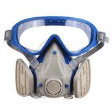 Masque de protection du visage Masque anti-éclaboussures anti-poussière Lunettes anti-poussière Respirateur chimique et lunettes Respirateur respiratoire Pesticide Anti-poussière Appareil anti-incendie pour la respiration