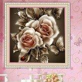 DIY 5D Diamantmalerei Satz Retro Flower Handmade Craft Kreuzstich Stickerei Home Office Wanddekoration
