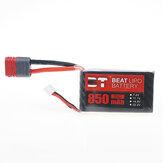 BT BEAT 7.4V 850mAh 35C 2S Lipo Batteria T Plug per RC Car