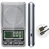 600g 0,01g Elektronisk LCD Smykke Scale Digital Lomme Vægt Mini Precision Balance USB Interface