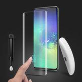 BakeeyUVFullGlueSupportUltrasonic Fingerprint szkło hartowane Screen Protector Samsung Galaxy S10 Plus 3D Curved Edge Film