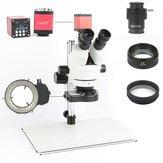 Laboratorium napraw lutowniczych telefonu PCB przemysłowe 7X 45X 90X Simul-focal trinokularowy mikroskop stereofoniczny VGA HDMI kamera wideo 720P 13MP